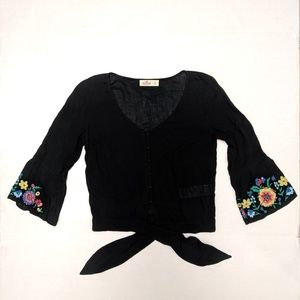 Hollister Corp Top with Bell Sleeves